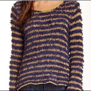 FREE PEOPLE Downy Striped Pullover Sweater sz SM